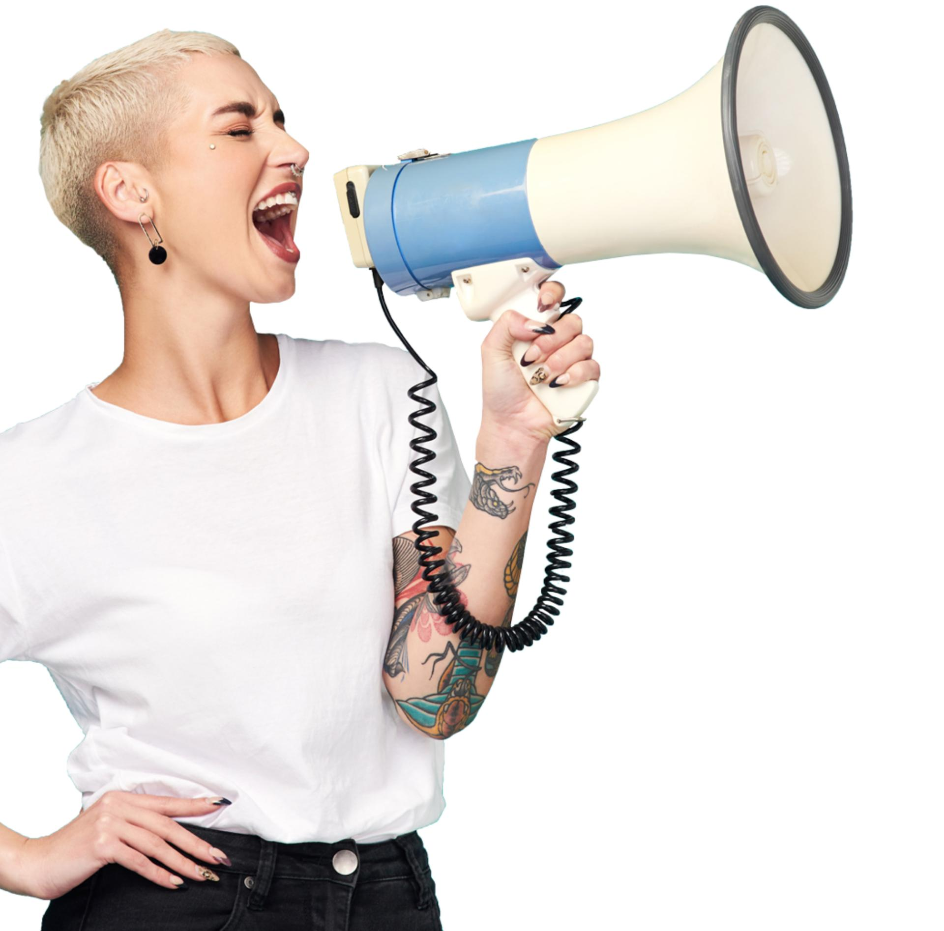 Image for women megaphone